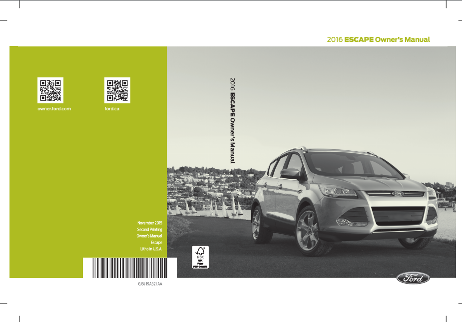2016 Ford Escape Owner's Manual Image