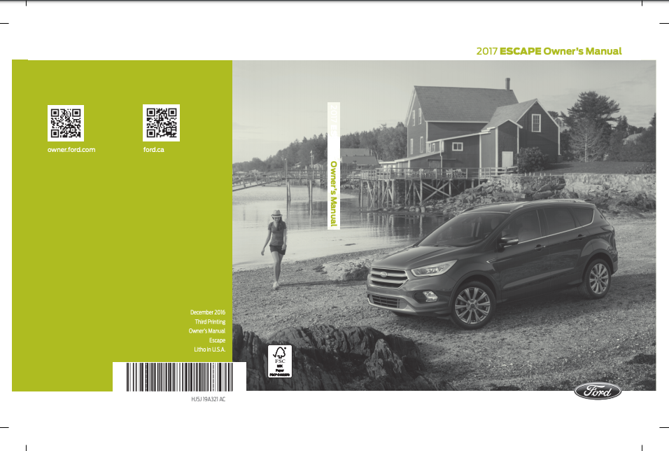 2017 Ford Escape Owner's Manual Image