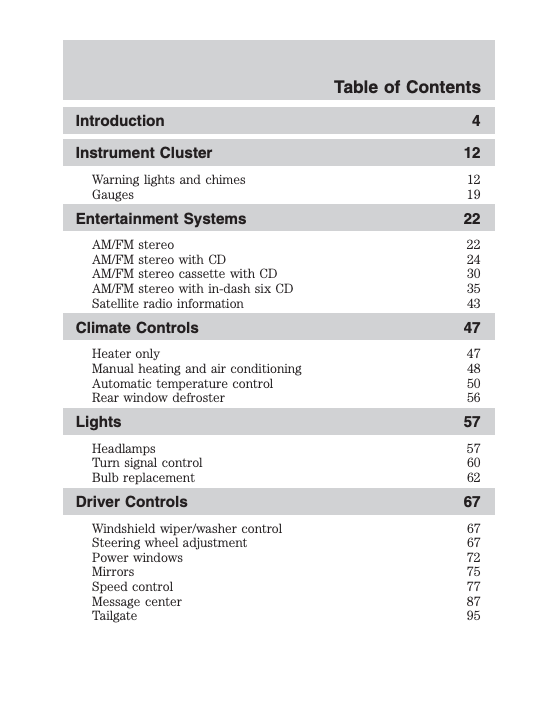 2006 Ford F-150 Owner's Manual Image