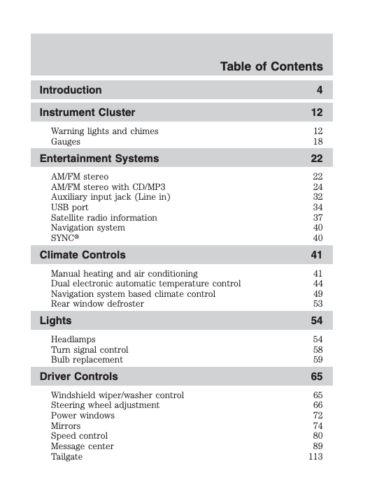2009 Ford F-150 Owner's Manual Image