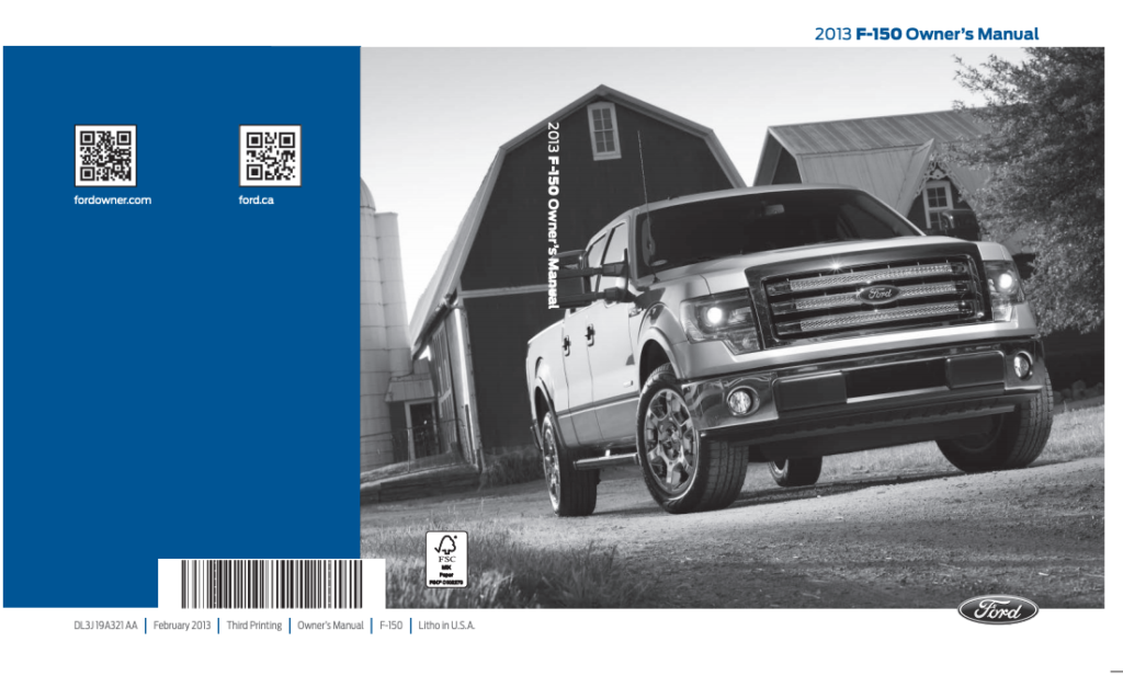 2013 Ford F-150 Owner's Manual Image