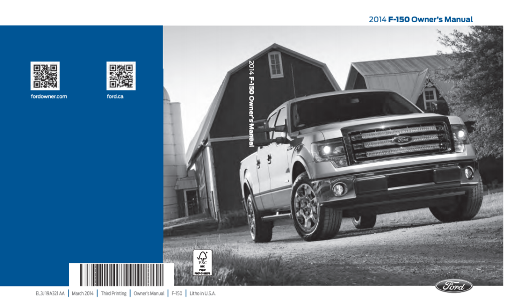 2014 Ford F-150 Owner's Manual Image