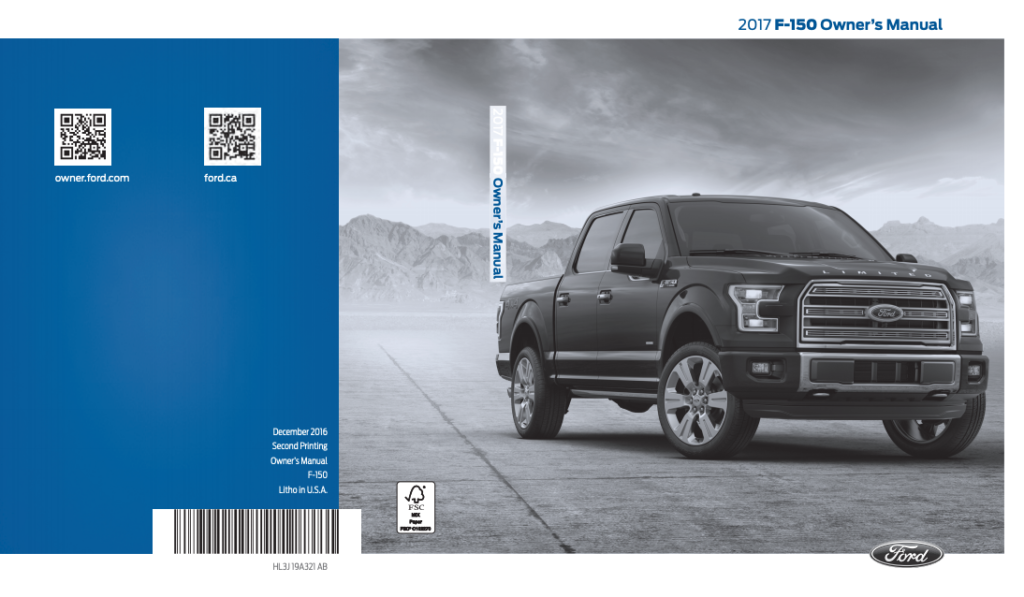 2017 Ford F-150 Owner's Manual Image