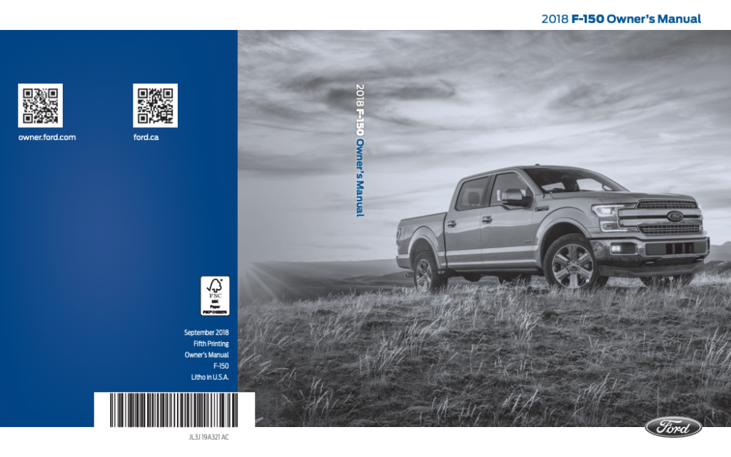 2018 Ford F-150 Owner's Manual Image