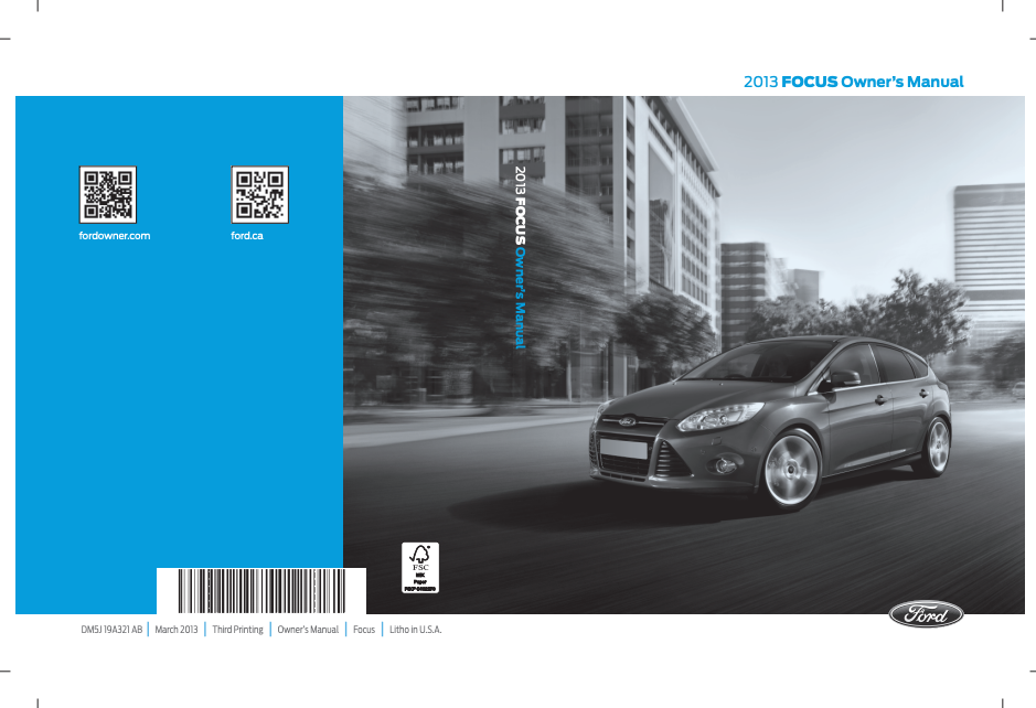 2013 Ford Focus Owner's Manual Image