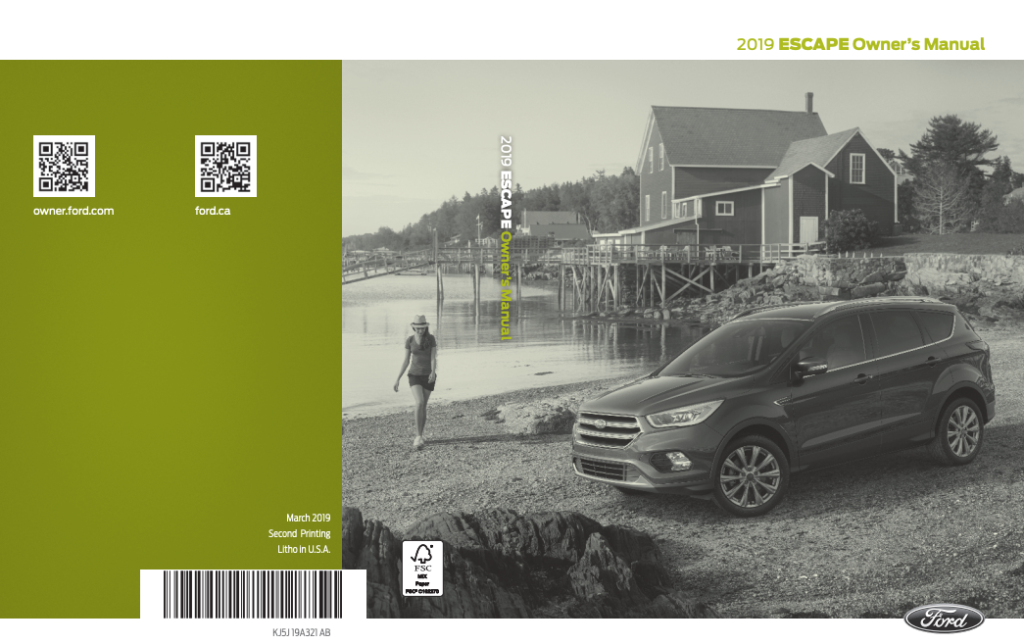 2019 Ford Escape Owner's Manual Image