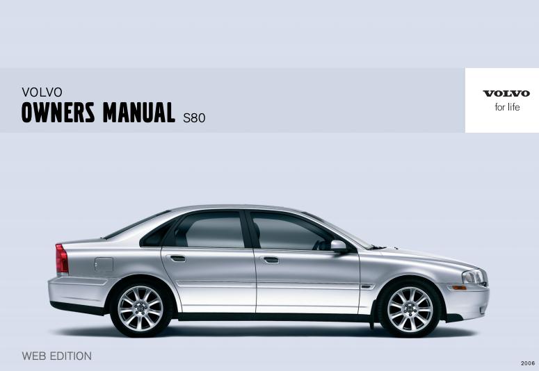 2006 Volvo S80 Owner's Manual Image