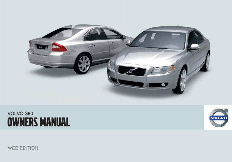 2009 Volvo S80 Owner's Manual Image