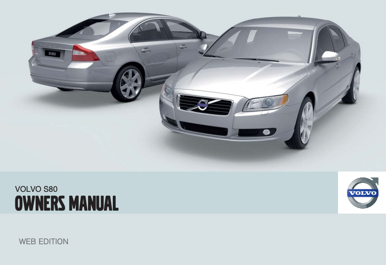 2010 Volvo S80 Owner's Manual Image