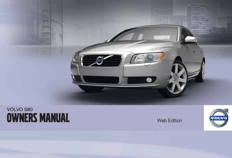 2011 Volvo S80 Owner's Manual Image
