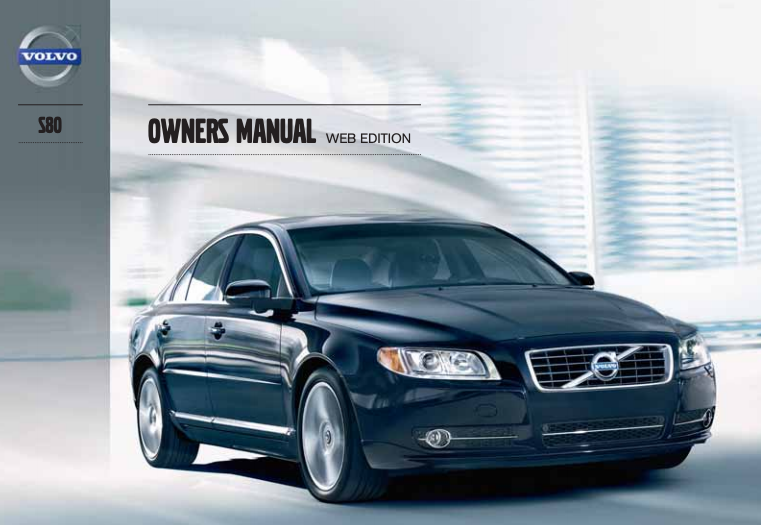 2013 Volvo S80 Owner's Manual Image