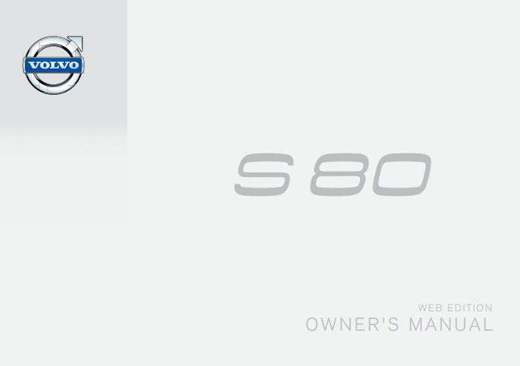 2014 Volvo S80 Owner's Manual Image