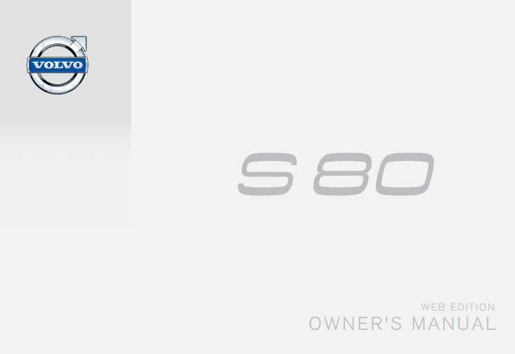 Late 2015 Volvo S80 Owner's Manual Image