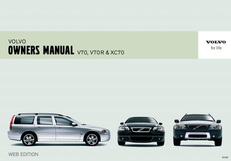 2006 Volvo V70 Owner's Manual Image