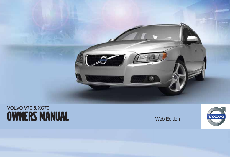 Late 2011 Volvo V70 Owner's Manual Image