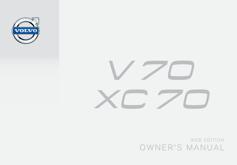 Late 2015 Volvo V70 Owner's Manual Image