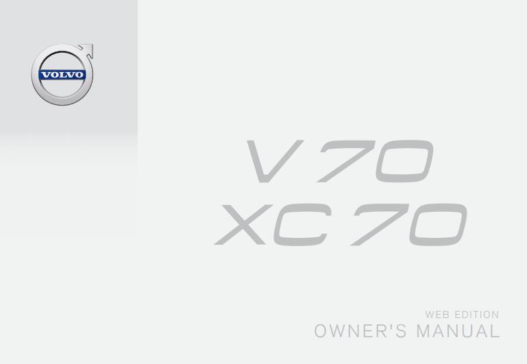 2016 Volvo V70 Owner's Manual Image