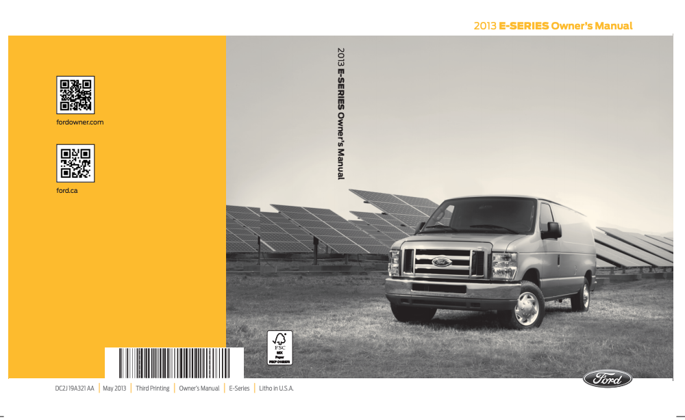 2013 Ford E-350 Owner's Manual Image