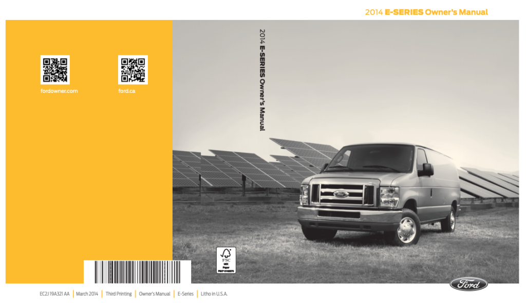 2014 Ford E-350 Owner's Manual Image