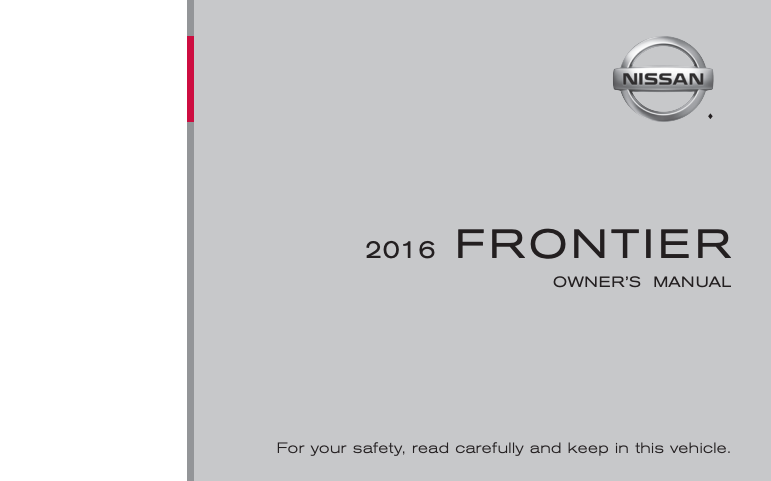 2016 Nissan Frontier Owner's Manual Image