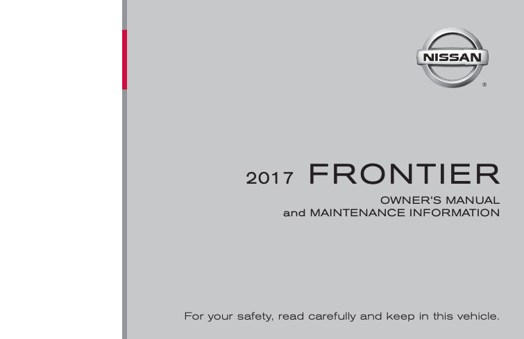 2017 Nissan Frontier Owner's Manual Image