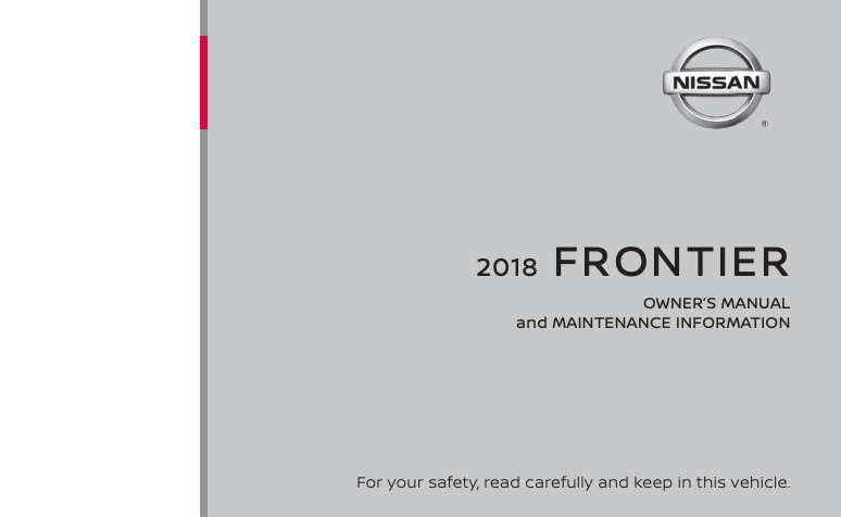 2018 Nissan Frontier Owner's Manual Image
