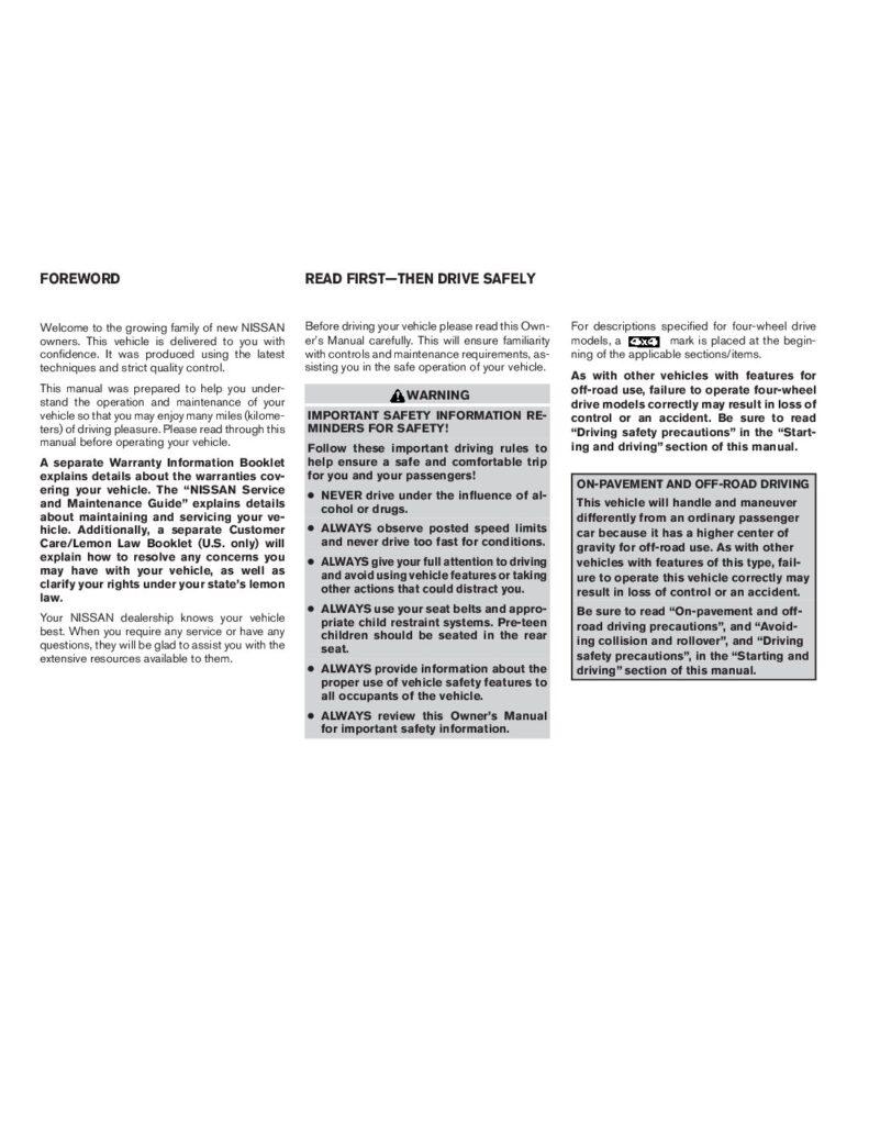 2008 Nissan Titan Owner's Manual Image