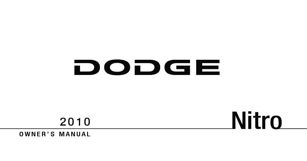 2010 Dodge Nitro Owner's Manual Image