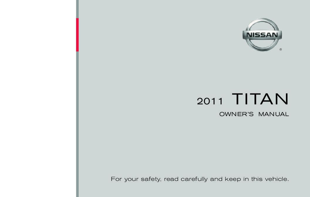 2011 Nissan Titan Owner's Manual Image