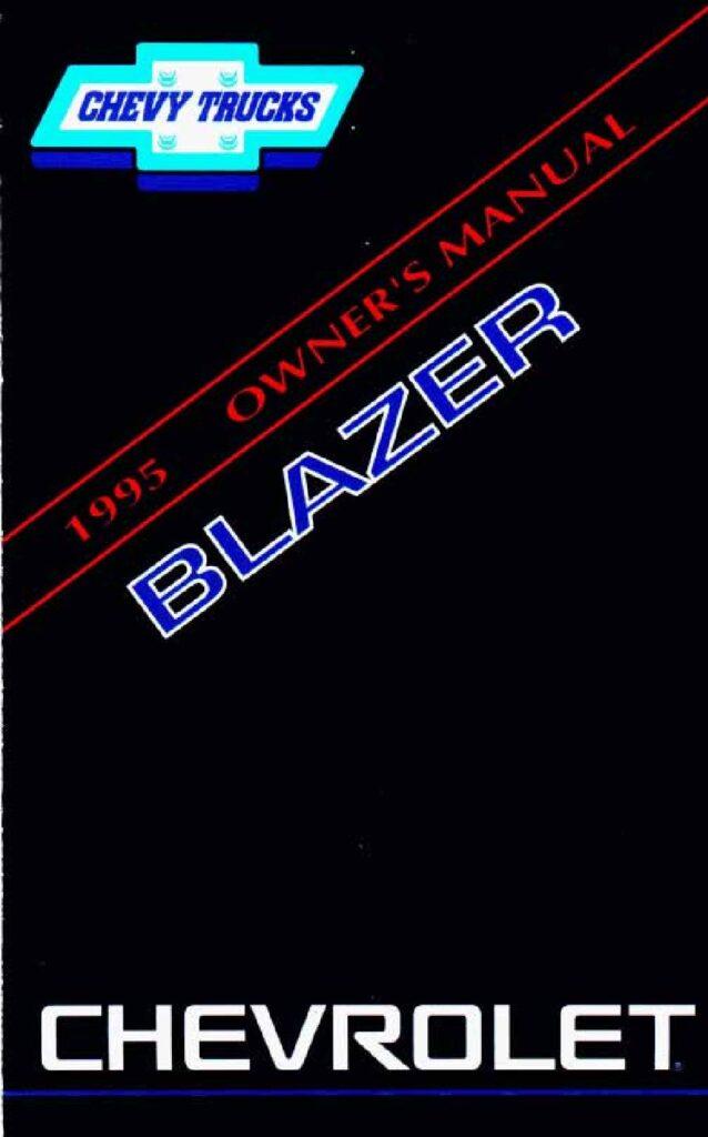 1995 Chevrolet Blazer Owner's Manual Image