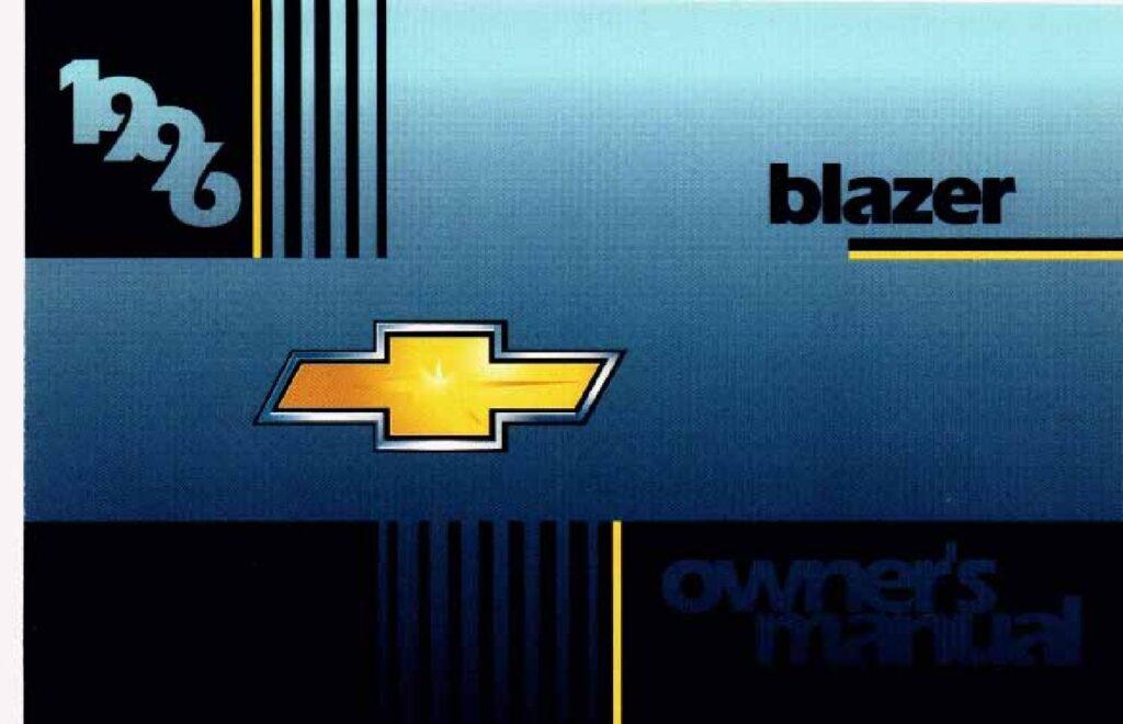1996 Chevrolet Blazer Owner's Manual Image