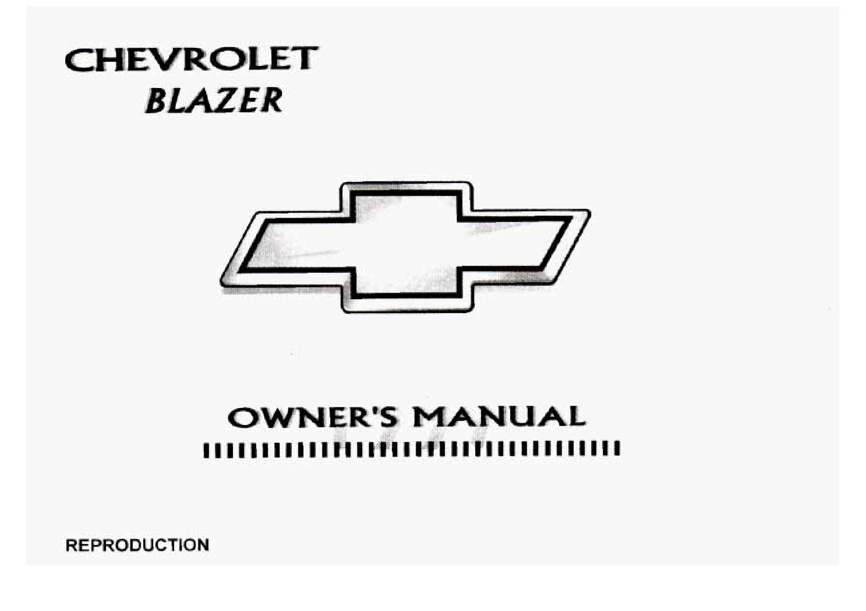 1997 Chevrolet Blazer Owner's Manual Image