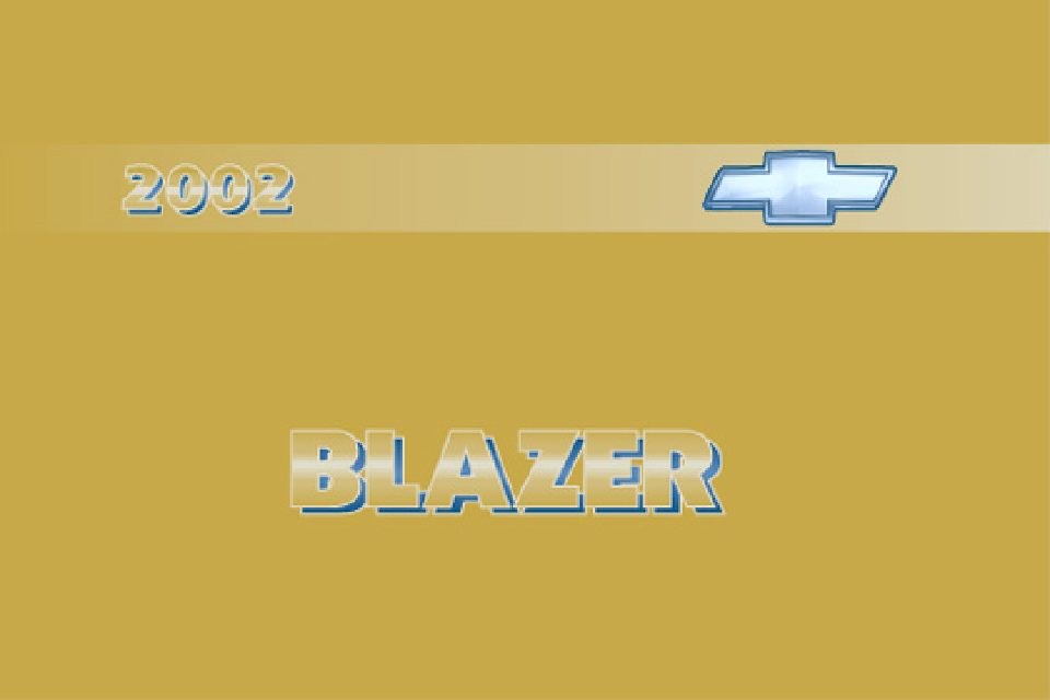 2002 Chevrolet Blazer Owner's Manual Image