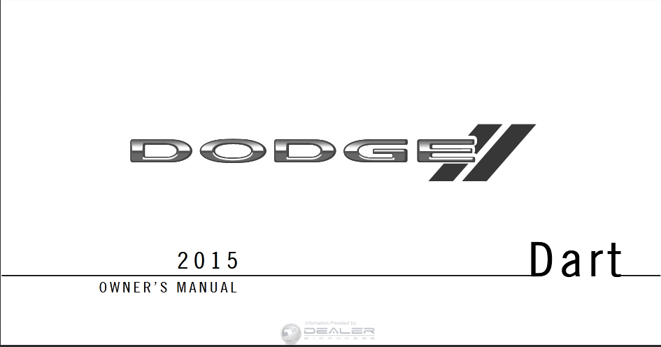 2015 Dodge Dart Owner's Manual Image