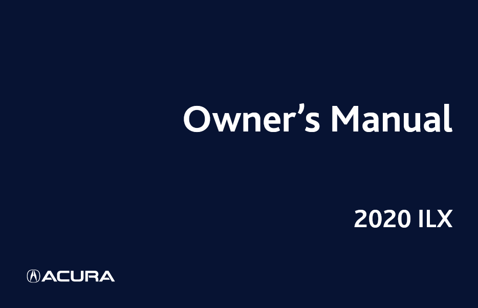 Download 2020 Acura ILX owners manual Image