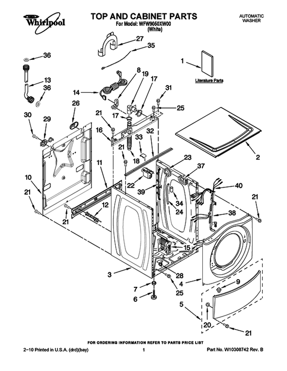 Whirlpool Washer Accessories Image