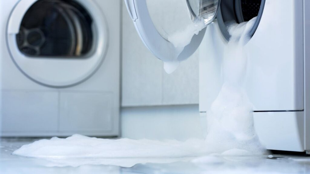 washing machine detergent spill